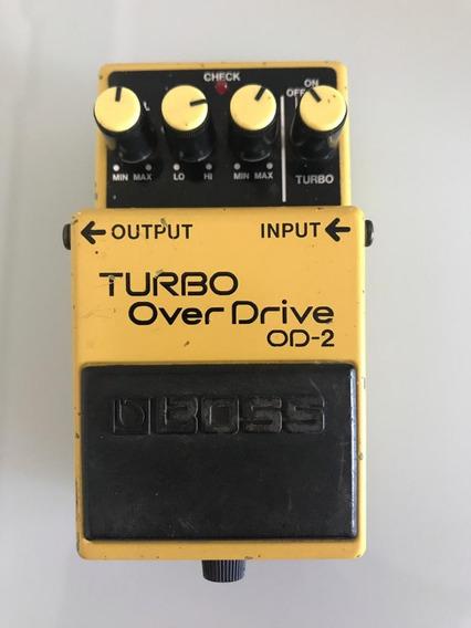 Pedal Boss Turbo Over Drive Od2 P Guitarra Violao Faço Troca