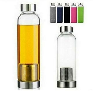 Botella Agua Vidrio Con Infusor Para Té