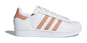 Tenis adidas Cg5462 Superstar W Blanco/coral