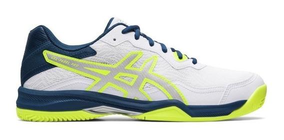 Zapatillas Asics Tenis Hombre Gel Padel Pro 4 Blanco-vd Ras