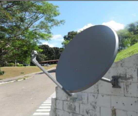 Antena Ku 75cm + Lnbf Duplo (50pçs)