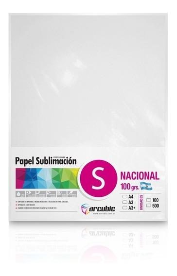 Papel Profesional Sublimacion Nacional A4 100 Hojas, No Mate