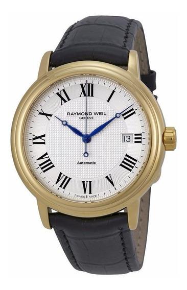 Reloj Raymond Weil Maestro Oro Automático Piel 2837-pc-00659