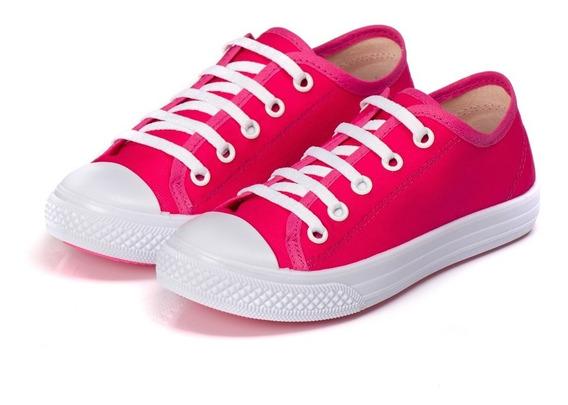 Tênis Feminino Infantil Liso Pinkvermelho Red Outlet Kapell