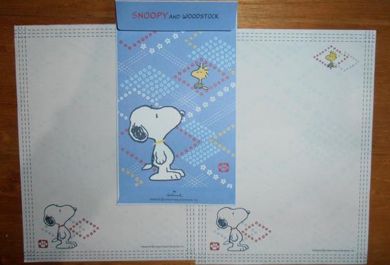 Lindo Lote Papel De Carta Snoopy - 33 Itens
