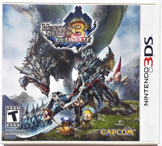 Jogo Monster Hunter Ultimate 3 Nintendo 3ds Física Original