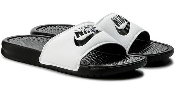 Nike Benassi Jdi 100 Sandalias Chanclas White / Black- Black
