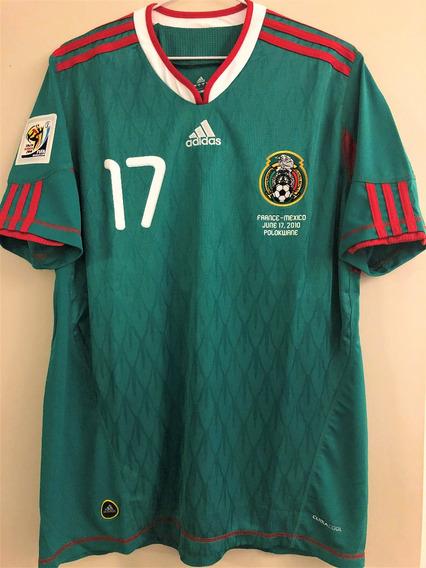 Camisa México Copa 2010 G. Dos Santos #17 Vs França Rara