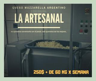 Muzzarella La Artesanal Premium Exelent! La Mejor Calidad!!
