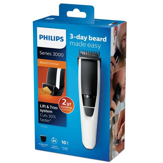 Aparador De Pelos Cabelos Barba Recarregavel Philips Bt3206