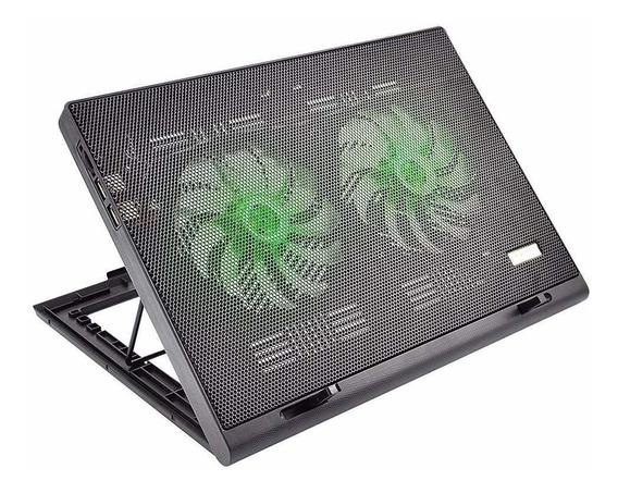 Cooler Para Notebook Duplo 2 Portas Usb Led Multilaser Ac267