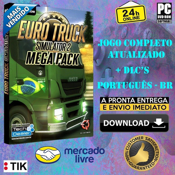 Mapa Brasileiro + Euro Truck Simulator + Todas As Dlcs
