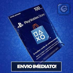 Cartão Playstation Psn Plus Br Brasil Gift Card R$ 100 Reais