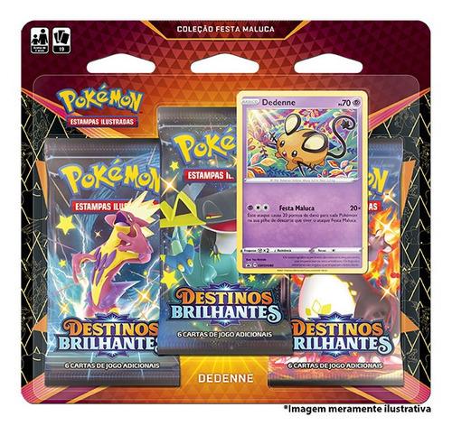 Imagem 1 de 1 de Card Game Pokémon Blister Destinos Brilhantes Dedenne