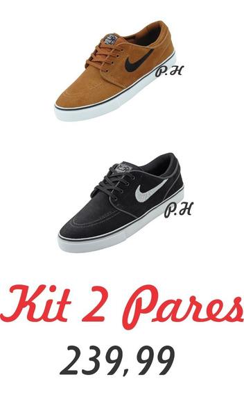 Tênis Skate Nike Sb Zoom Stefafan Janoski Og Kit 2 Pares
