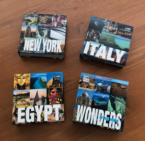 Livros Decorativos New York-italy-egypt-wonders Of The World