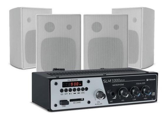 Kit Sonorização - Amplificador Slim 1000 Plus + 4 Caixas Ps