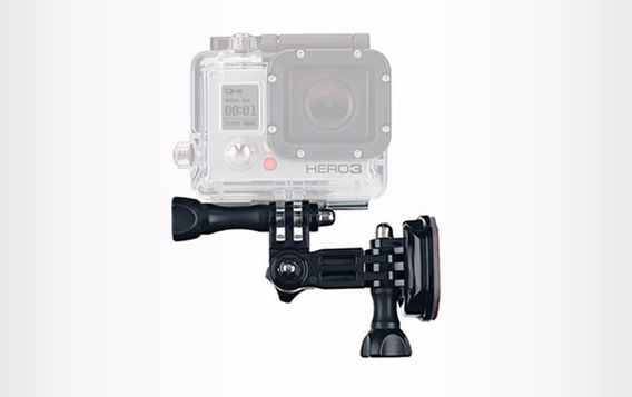 Kit Motofilmador Com Suporte Lateral De Capacete Para Gopro