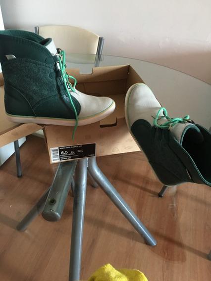 Bota Botineta Nike Carico Mid Verde Oscuro Muy Poco Uso