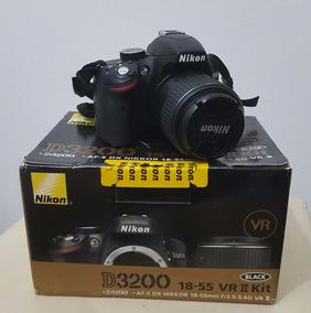 Câmera Nikon D3200 + Lente Af-s 18-55mm F/3.5-5.6g Vr Ii