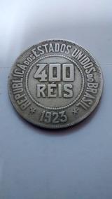 Moeda 400 Réis 1923 - Moedas Antigas 200 Réis Brasil
