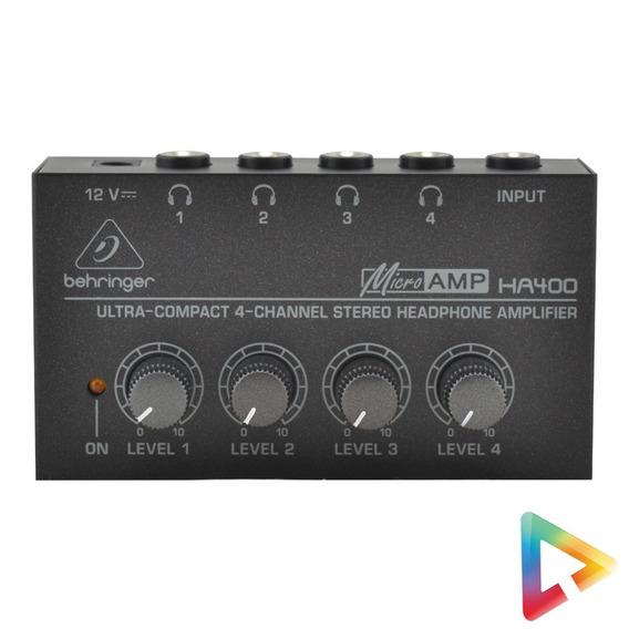 Amplificador De Fones Behringer Power Play Ha400 Hl Infomusi