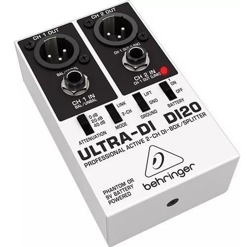 Ultra Direct Box Di20 Ativo 2 Canais Behringer 100% Original