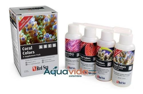Red Sea Coral Colors Abcd Paquete*4 Para Acuarios De