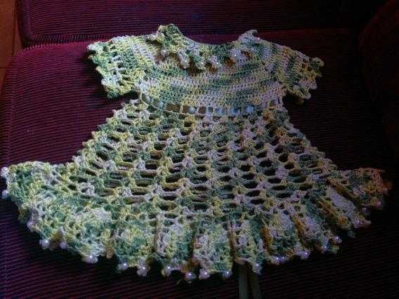 Vestido De Croché Infantil - Vestido Princesa