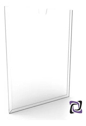 Imagem 1 de 2 de Display Porta Folha Acrílico Parede A4 Aviso Cartaz Panfleto