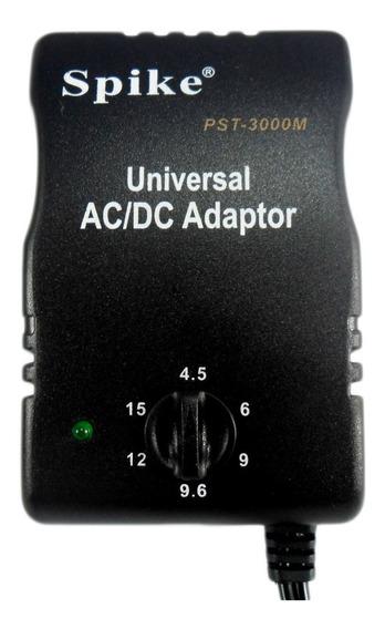 Fonte Universal Ac/dc 4.5v 6v 9v 9.6v 12v 15v 3000ma 6 Plugs