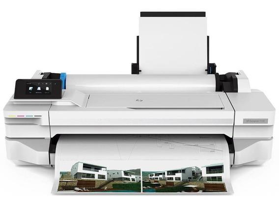 Impressora Hp Plotter Designjet T130 24 Polegadas Colorida W