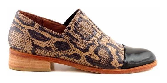 Zapato Cuero Mujer Briganti Cerrado Casual - Mccz03490 Ca