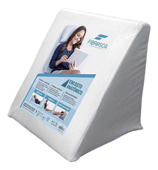 Travesseiro Fibrasca Encosto Anatômico Suave Conforto, Branco