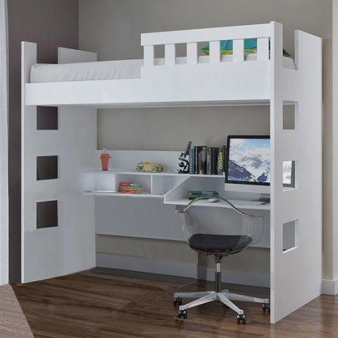 Cama Infantil Com Escrivaninha E Grade De Proteção 100% Md