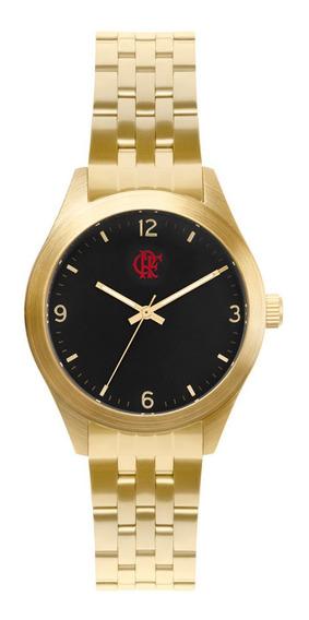 Relógio Technos Flamengo Dourado E Preto Fla2035nnp/4d