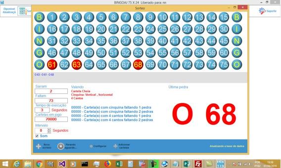 Bingo Programa Bingoaj 75x24 Gerencia Rodadas De Bingo