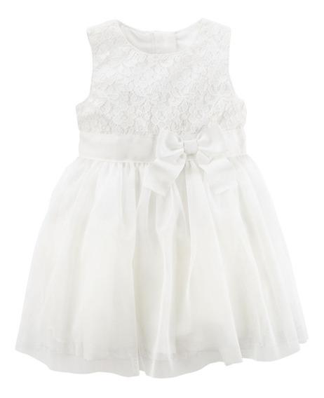 Carters Vestido Bebe Batizado Fim De Ano Casamento 24m
