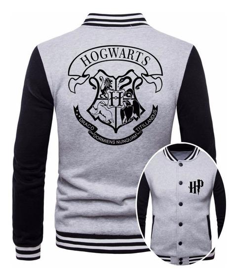 Jaqueta College Moletom Masculina Hogwarts Harry Potter