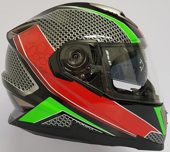 Casco Integral Iron Racing Con Lente Interno Dot 1395