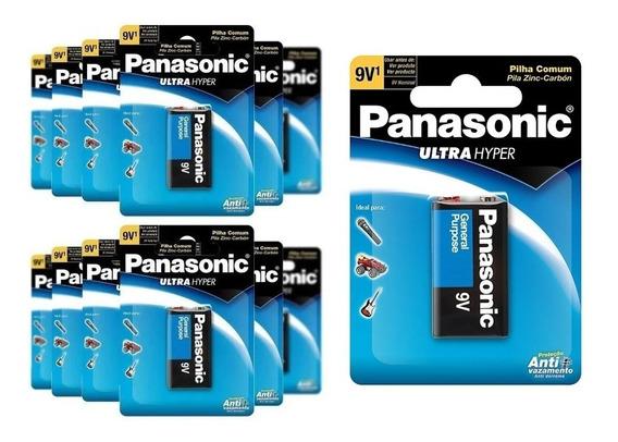 Bateria 9v Panasonic Zinco Kit C/15 Unidades Original C/ Nf