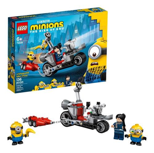Lego Minions 75549 Persecución De Bicicletas 136 Pzas