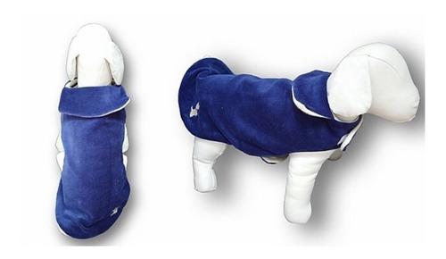Imagem 1 de 6 de Roupa De Pet Capa Plush Lisa Azul Fabrica Pet Tamanho 00