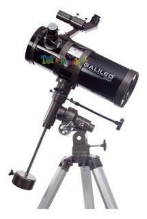 Telescopio Galileo Ecuatorial 1000x114 Reflector Aument 750x