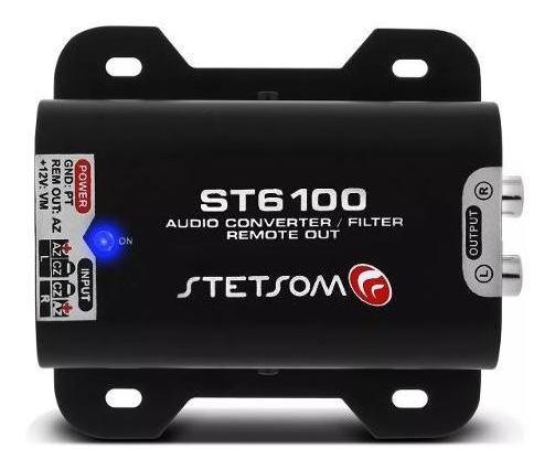 Adaptador Fio Rca Stetsom St 6100 Filtro Anti Ruído
