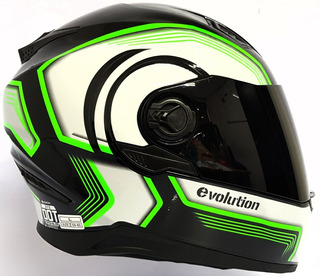Casco Integral C/lente Evolution Lazer Dot Moto