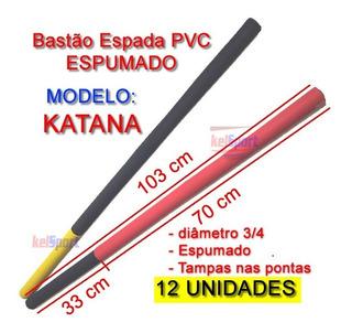 Espada Katana Treino Pvc / Espumado 103 Cm Kit 12 Pçs