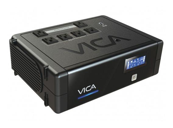 No Break Vica Rev 900va/500w 6 Contactos Con Respaldo Y Regu