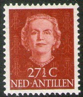Antillas Holandesas Sello Nuevo Reina Juliana Años 1950-54