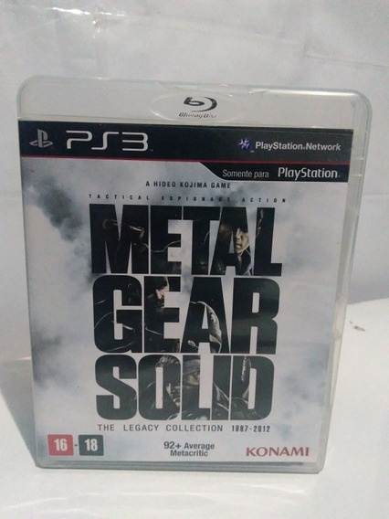 Jogo Metal Gear Solid Legacy Collection Ps3 Física R$85